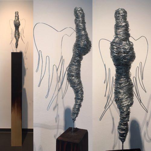 """Drahtskulptur """"Angel of Love"""" (VERKAUFT 2016)"""