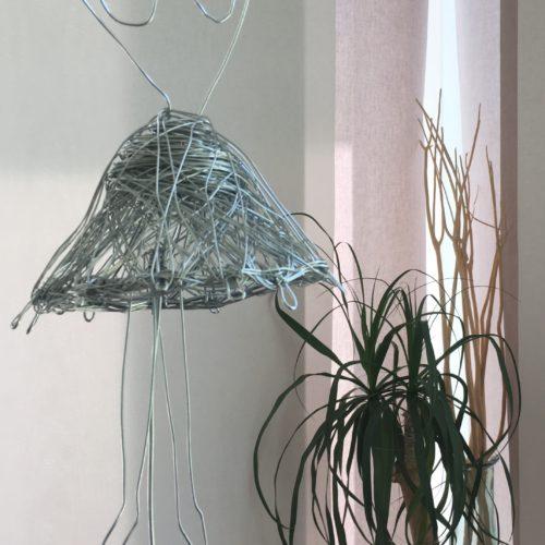 """Drahtskulptur """"Tänzerin"""" (Verkauft Benefiz 2017)"""