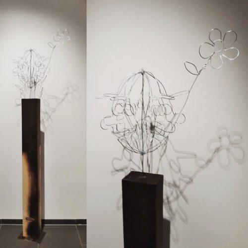 "Drahtskulptur ""Clown"" 2016 VERKAUFT"