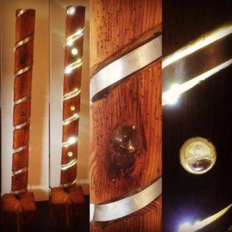 Lampe glaskugeln Aluminium