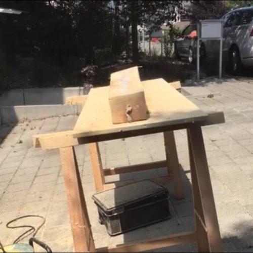 Herstellung einer Skulpturenlampe