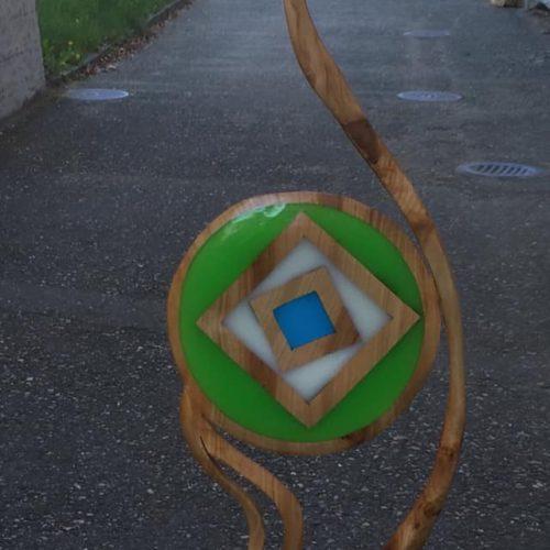 """Skulptur green """"verkauft 2019"""""""