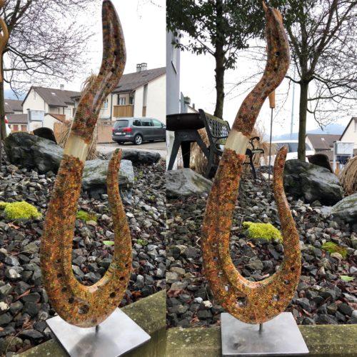 """Buntstifte-Skulptur """"Swing"""""""
